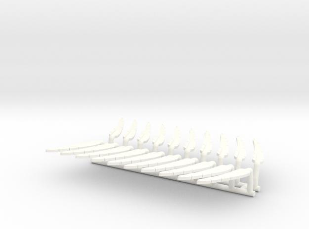 DIMITRIS 9 FEATHERS x10 in White Processed Versatile Plastic