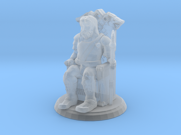 King on Throne (28mm Scale Miniature)
