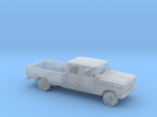 1/160 1970-72  Ford F-Series Crew Cab Long Bed Kit in Smooth Fine Detail Plastic