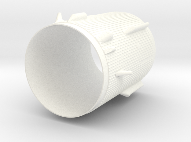 1:100 scale Saturn 1b Interstage/S4b Bottom in White Processed Versatile Plastic