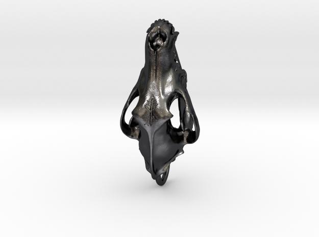 wolfrune4loopedit in Polished and Bronzed Black Steel