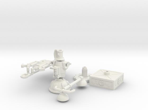 Deep 13 Robot Bundle W/ Bases in White Natural Versatile Plastic