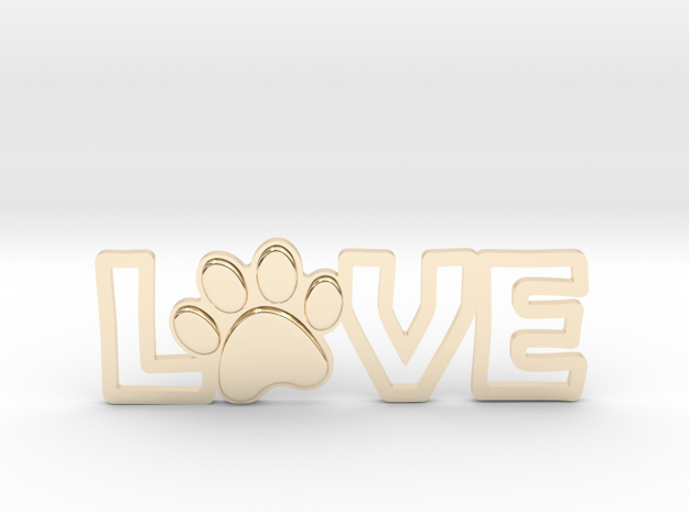 Unconditional Love III Pendant in 14k Gold Plated Brass