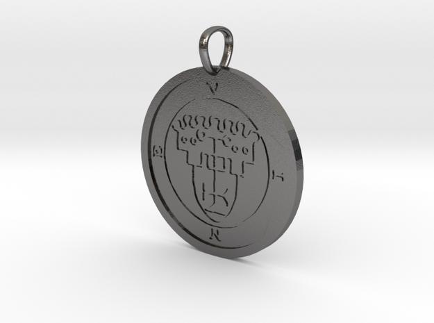 Vine Medallion in Polished Nickel Steel