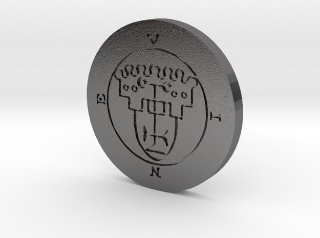 Vine Coin in Polished Nickel Steel