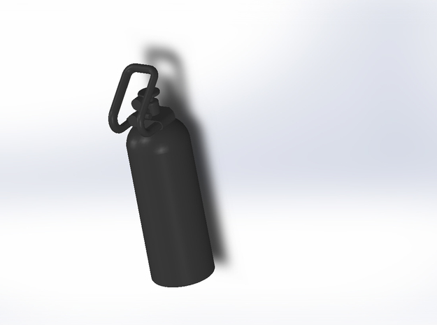 CO2 Tank in Black Natural Versatile Plastic