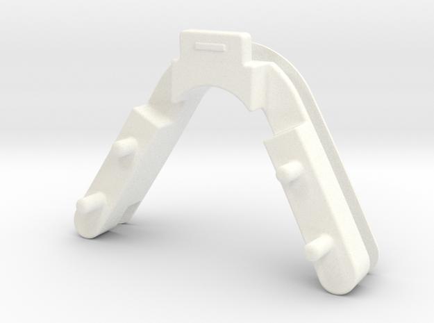 Nose Clip in White Processed Versatile Plastic