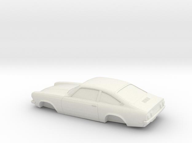 1/32 1971 Chevrolet Vega Hatchback in White Natural Versatile Plastic