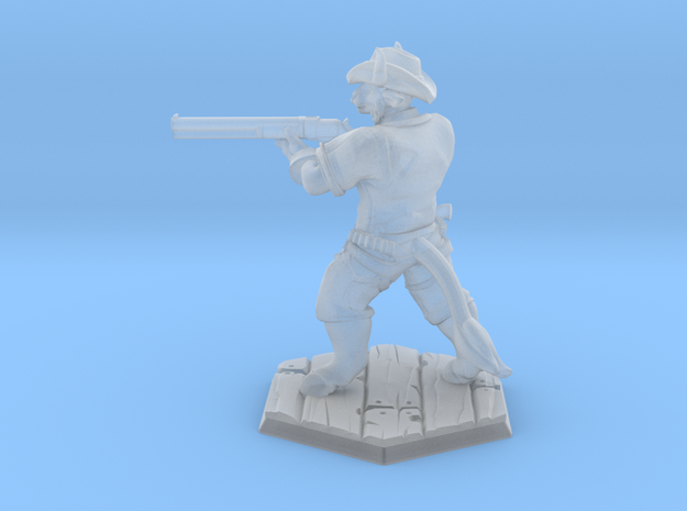 Bull Gunner (28mm Scale Miniature) in Smooth Fine Detail Plastic