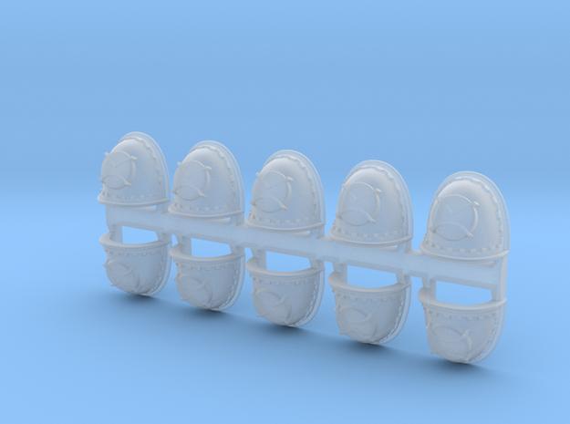 Pauldron_AngryMarine_05 in Smooth Fine Detail Plastic