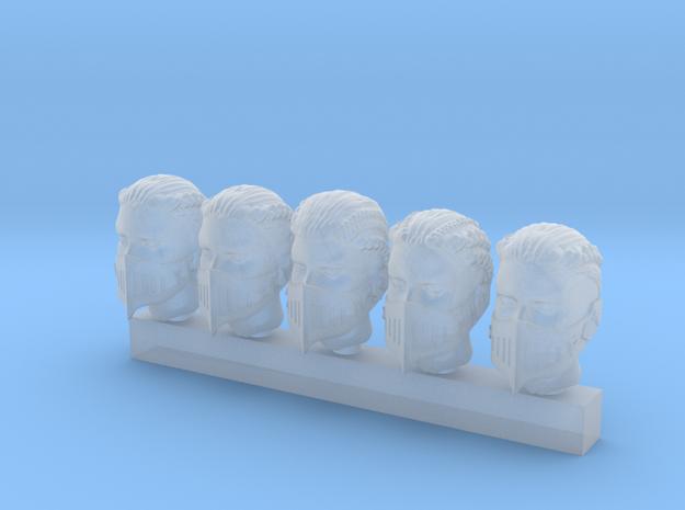 Valkyries Heads (medium) in Smooth Fine Detail Plastic