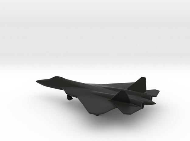 Sukhoi Su-57 PAK FA in Black Natural Versatile Plastic: 1:200