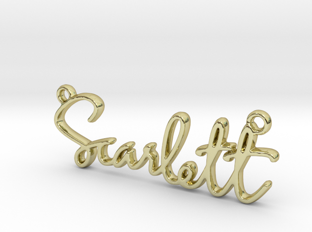 Scarlett Script First Name Pendant in 18k Gold Plated Brass