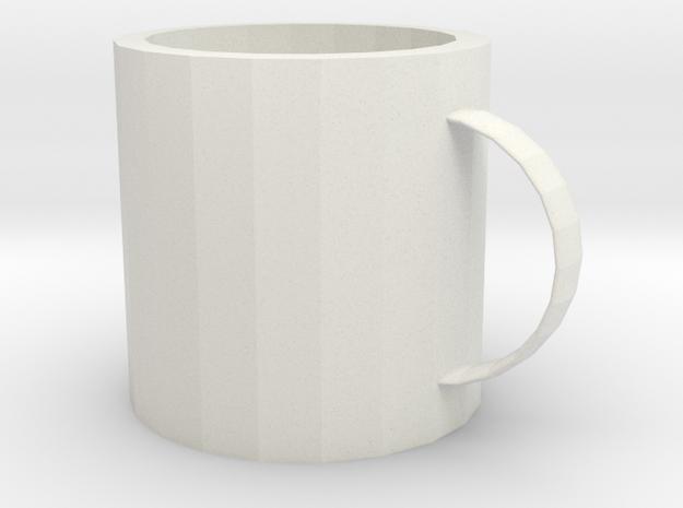 Moon mug in White Premium Versatile Plastic