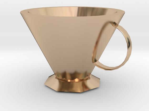 Octagonal mug in 14k Rose Gold