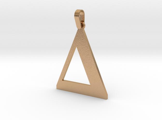 Delta Sign Letter Pendant in Natural Bronze (Interlocking Parts)