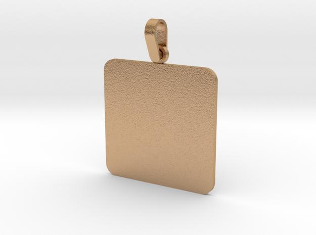 Pendant Base Squared 30 mm X 30 mm in Natural Bronze (Interlocking Parts)