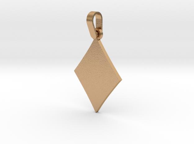 Black Diamond Suit Sign Pendant in Natural Bronze (Interlocking Parts)