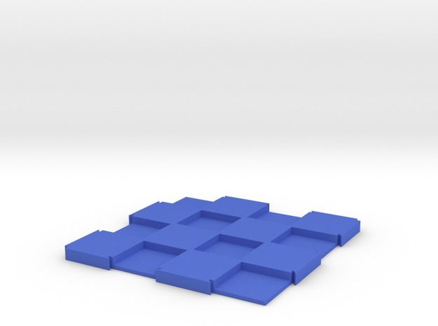 """Expandable Mini Chess Board 4x4 with 1/2"""" Squares in Blue Processed Versatile Plastic"""