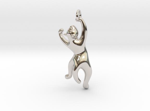 cat_004 in Rhodium Plated Brass