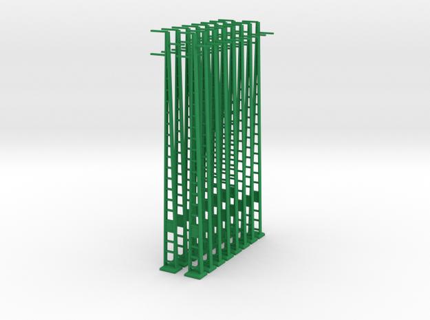 Strommast 25Kv 16x 1:160 in Green Processed Versatile Plastic