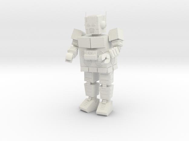 Intergalactic Robot HO scale in White Natural Versatile Plastic