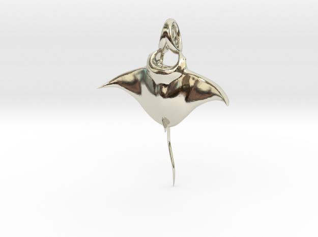 Manta Ray Pendant in 14k White Gold