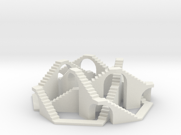 Walkable (5,3) Torus Knot in White Natural Versatile Plastic