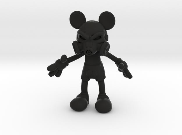 Mickey Gas Mask in Black Premium Versatile Plastic
