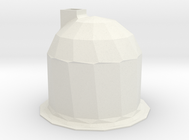 Snow House in White Natural Versatile Plastic