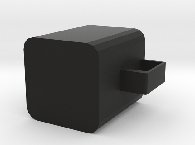 Square cup in Black Natural Versatile Plastic: Extra Small