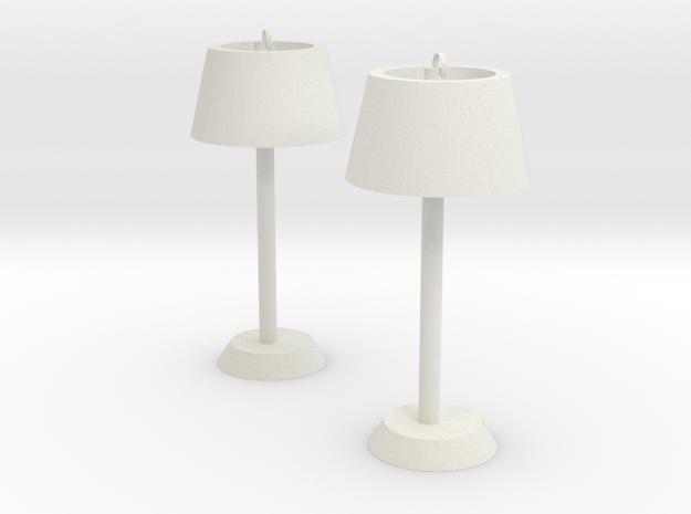 Floor lamp earring in White Natural Versatile Plastic