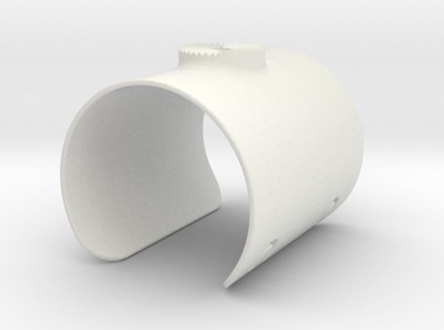 Armclamp_Elastic_70mm in White Natural Versatile Plastic