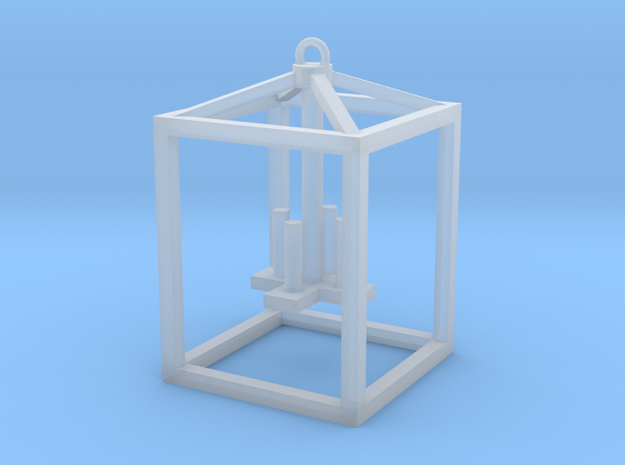 Hanging Lantern (4 candles) in Smooth Fine Detail Plastic