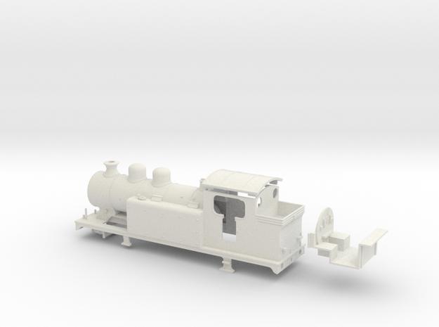 LBSCR E5-X - SR/BR body (Double dome) in White Natural Versatile Plastic: 1:76 - OO