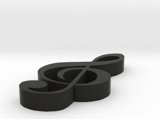 clock in Black Natural Versatile Plastic