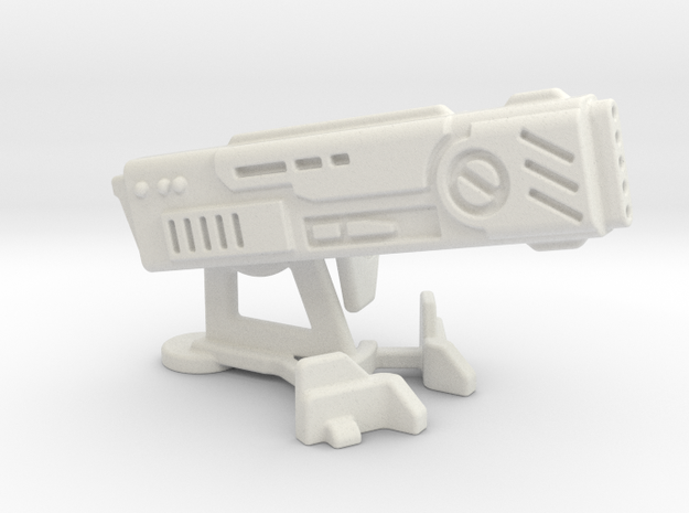 28mm Scale Large Tau Cannon in White Natural Versatile Plastic