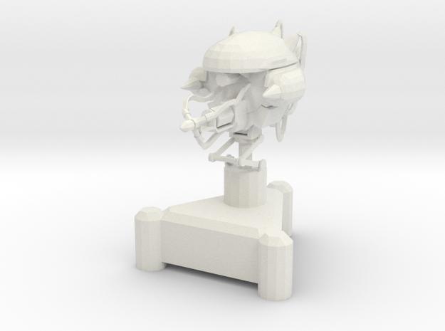 Laser Turret in White Natural Versatile Plastic