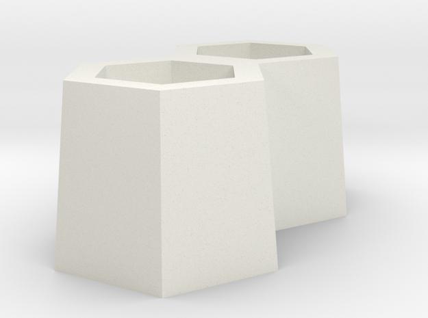 複數 Plural in White Natural Versatile Plastic: Small