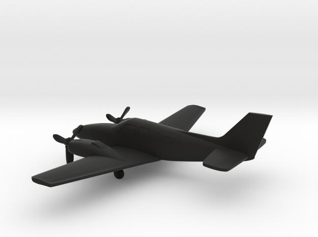 Beechcraft Baron G58 in Black Natural Versatile Plastic: 1:144