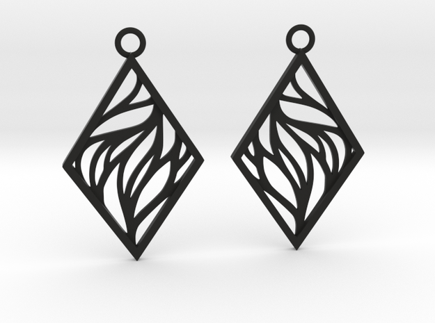 Aethra earrings in Black Natural Versatile Plastic: Medium