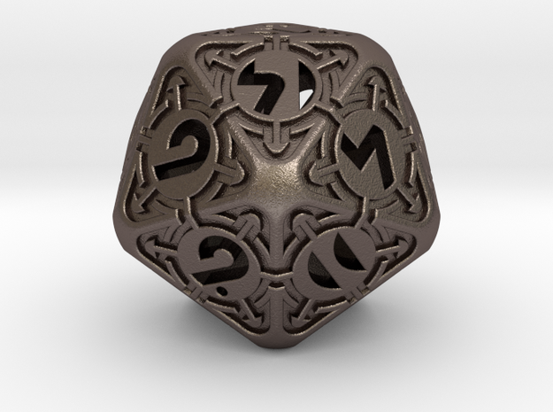 Daedalus D20 in Polished Bronzed-Silver Steel