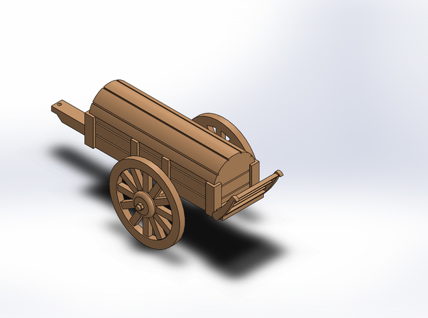 ARTILLERY BATTERY WAGON in White Natural Versatile Plastic