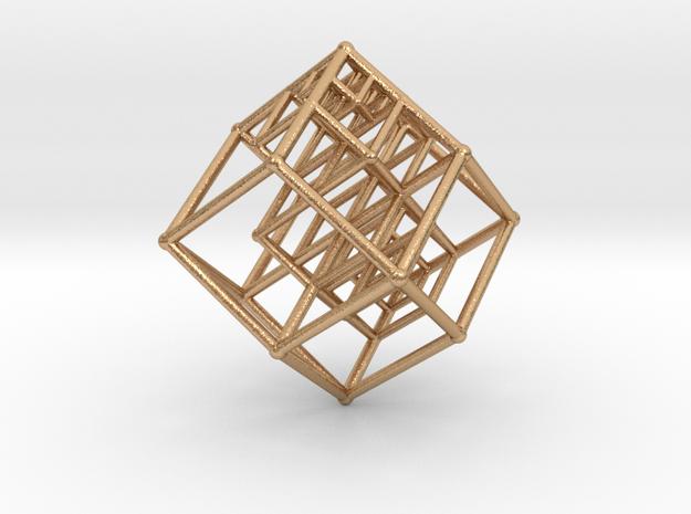 4D RootSystem Pendant in Natural Bronze