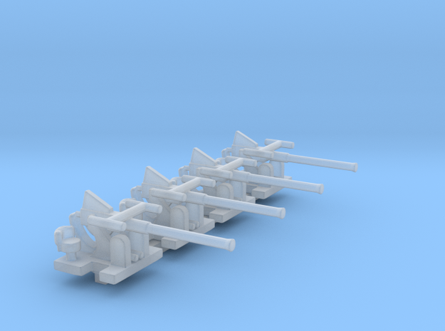 1/300 Scale Bofors Set of 4 in Smooth Fine Detail Plastic