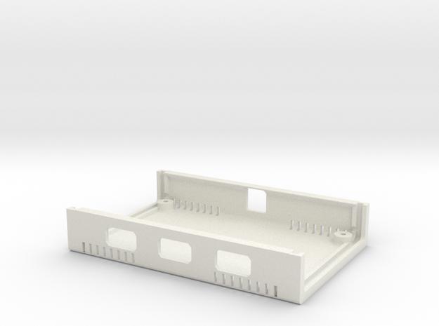 USB Sidecar for MiSTer XS Case Bottom (1/2) (v1.1) in White Natural Versatile Plastic