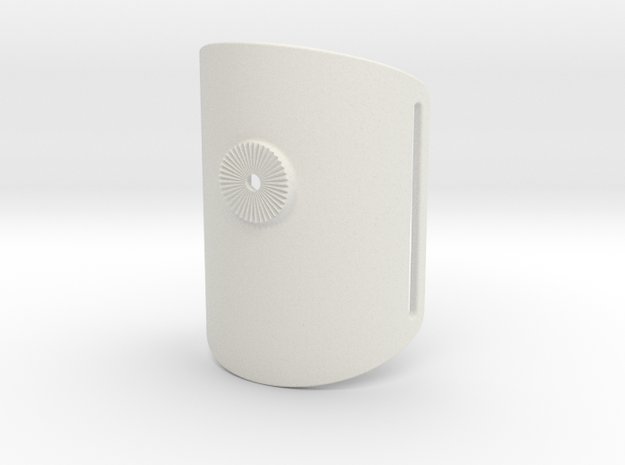 Armclamp_Textile_90mm in White Natural Versatile Plastic
