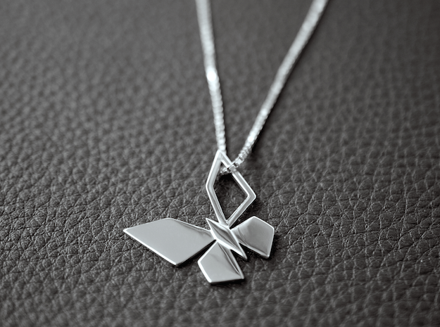 CPH BUTTERFLY PENDANT in Fine Detail Polished Silver