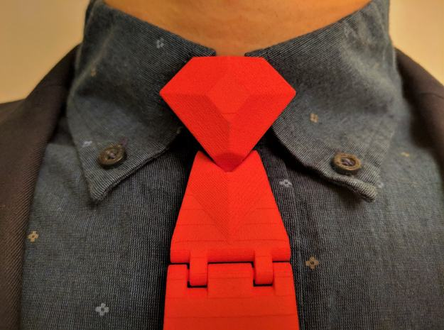 The Classic Necktie in Red Processed Versatile Plastic