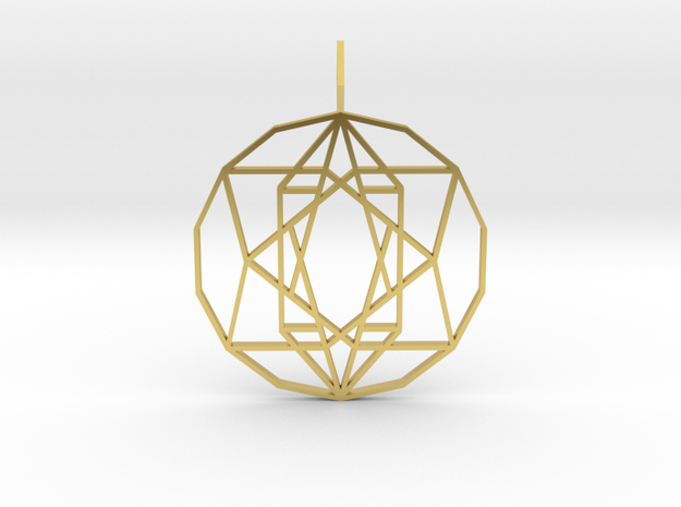 Star of Hope (Flat) in Polished Brass
